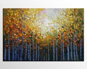 Abstract Canvas Art, Bedroom Wall Art, Original Painting, Canvas Painting, Contemporary Art, Canvas Art, Landscape Painting, Tree Painting