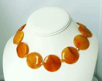 Yellow Jasper With Blink Necklace