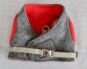 Dog Harness - Tweed Herringbone