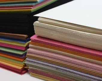 Recycled Bulk Paper and Card Value Pack Mix Sizes, Thickness and Colours Sugar Paper, Thin and Thick Card Value Pack Stock