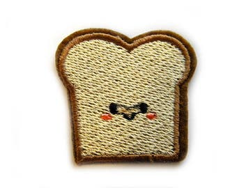 Embroidered  Slice Bread Toast Appliqué