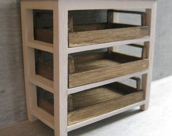1/12th Scale Work Table with Crates