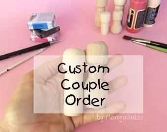 Custom couple order / Custom kokeshi dolls