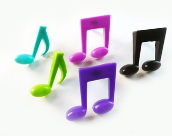 24 Large Colorful Musical Note Cupcake Picks Cake Toppers Party Favors Decorations Band Graduation Dance