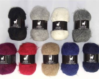 12ply Suri Alpaca and Merino Blended Yarn - Variety of Colours - Pack of 10