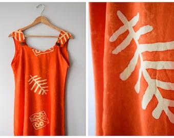 Orange batik minidress | M/L