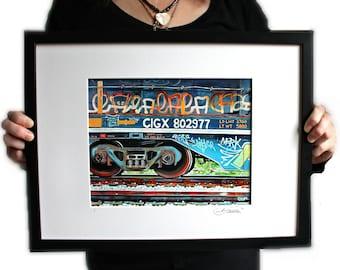 Graffiti Express 8 x 10 Framed Print