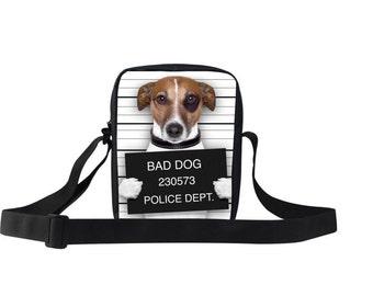 Bad to The Bone Dog Messenger Bag