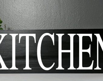 Kitchen sign, wood sign, wooden sign, hand painted, kitchen, kitchen decor, custom kitchen decor, plaque, custom sign, custom plaque, eat