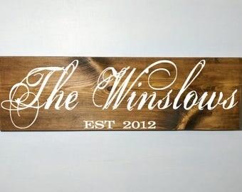 Family established sign, wood sign, wooden sign, custom plaque, custom established plaque, established sign, custom wood sign, custom sign