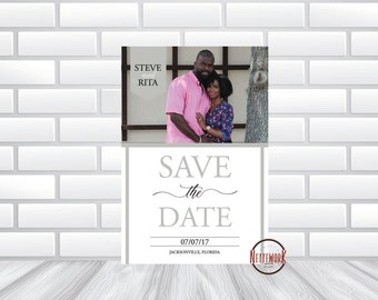 Stylish Save The Date Announcement * Digital File*