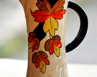 Price Brothers Vase Autumn Leaves Pattern circa 1930's