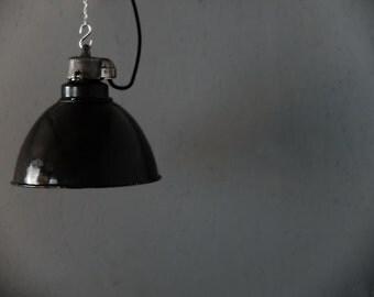 classic enamel factory light - original vintage lighting by works berlin