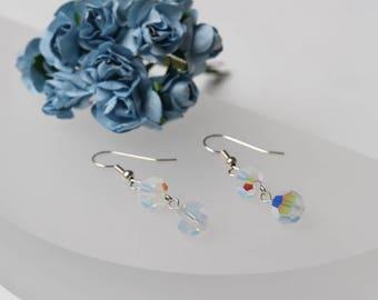 Swarovski White Opal AB Earrings