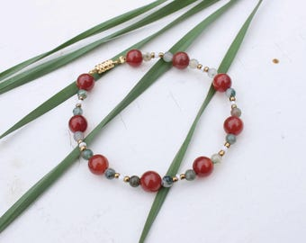 Earth Mother Bracelet- Natural Stone Bracelet, Amber Bracelet