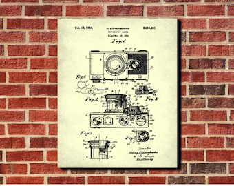 Camera Patent Print, Vintage Camera Poster, Photography Decor, Photographer Gift, Photography Studio Decor
