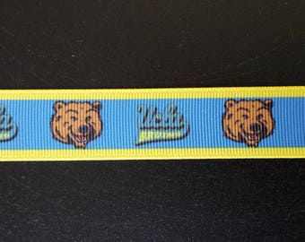 "7/8"" UCLA Bruins Inspired Grosgrain Ribbon"
