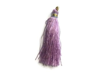 Purple Silk Tassel
