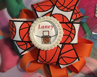 Basketball personalized hairbow or any sport