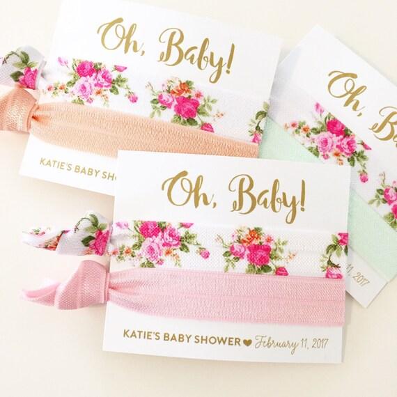 Floral Baby Shower Favors ~ Floral baby shower hair tie favors vintage