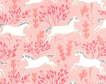 Blossom Unicorn Forest Magic Flannel by Sarah Jane Collection From Michael Miller on 100% Cotton, Flannel