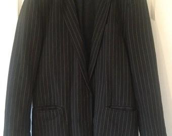 Vintage Gold and Black Pinstripe Jacket Blazer