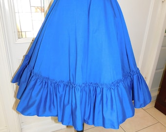 Partners Please Malco Modes San Francisco Blue Ruffled Petticoat/ Square Dance Skirt Large XL