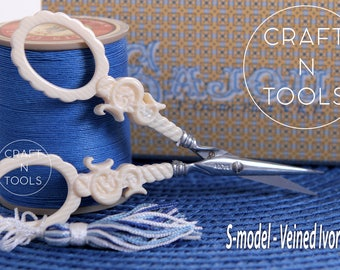 """Embroidery Scissors Maison Sajou """"S"""" Style in 3 models/Sajou Shears/Embroidery Shears/Chenille Scissors/Knitters Scissors/Beading"""