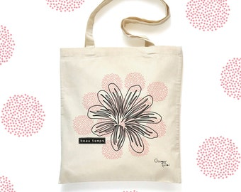 Tote Bag 'Beau Temps' - organic cotton - Organic cotton 'Beau Temps' Tote Bag bag