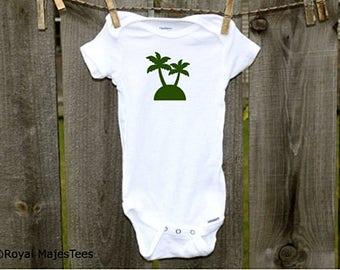 Palm Tree Onesies®, Beach Baby Shower