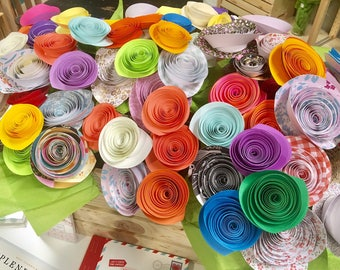 Assorted Paper Flower Bouquet handmade flowers Wedding Bouquets Birthday Gifts Baby Shower Gift multipack available