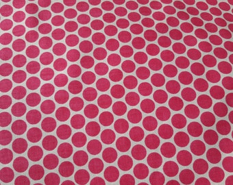 Pink and White Polka Dot Cotton Fabric Nursery Girl Baby