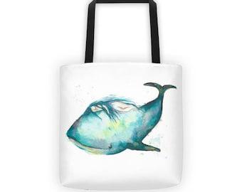 I am safe - Whale Mama Tote bag