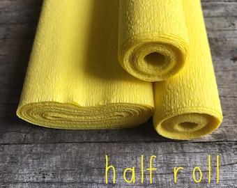 Chick Yellow - 60g Italian Crepe Paper - HALF ROLL
