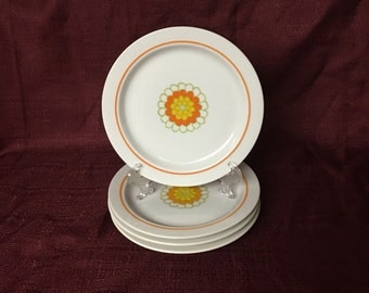 Georges Briard Boutique Fine China | Salad or Dessert Plates | Florette | Set of Four