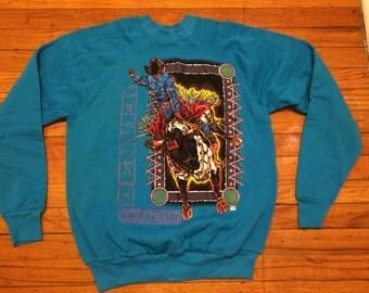 Vintage Denver Colorado Bull Rider Rodeo Sweatshirt