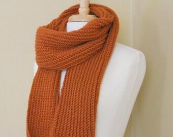 PATTERN - Classic ribbed scarf crochet pattern - Beginner crochet scarf pattern - Faux knit scarf crochet pattern  - Fall scarf pattern