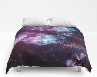 Nebula COMFORTER Twin/Twin XL/Double/Full/Queen/King Space Galaxy Purple Blue Cover Blanket Bedding Bedroom Bed Home Decor Home and Living