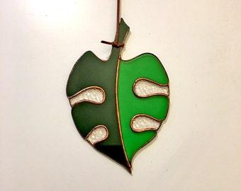 Glass Monstera (Tropical Leaf)
