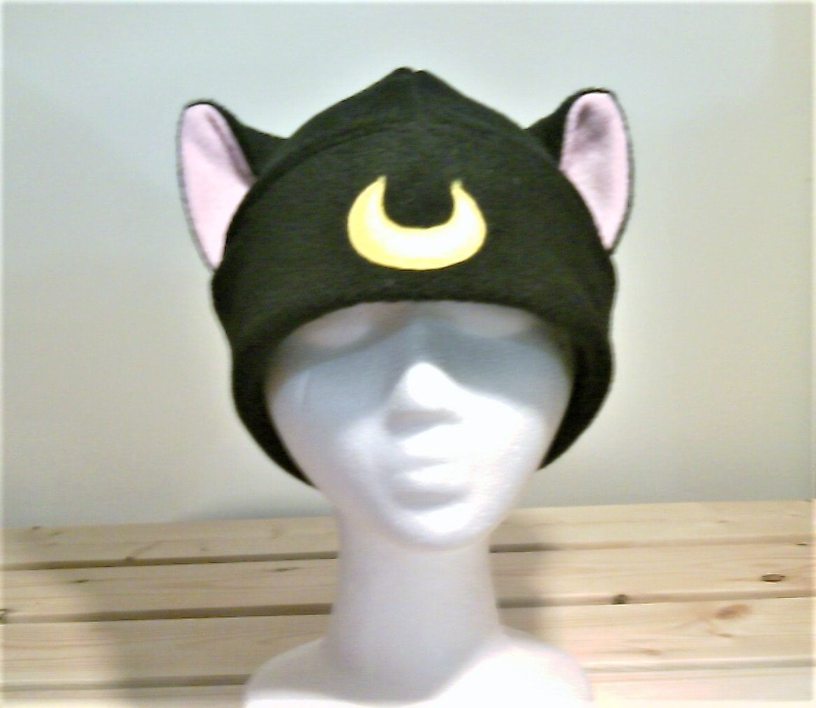 Luna Sailor Moon Cat Hat Luna Hat Luna Cat Hat Cat Ears
