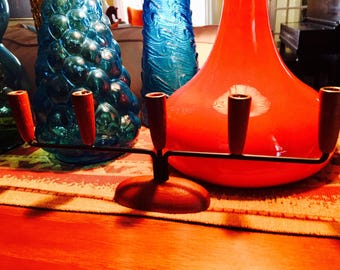 Mid Century Danish Teak candle Holder
