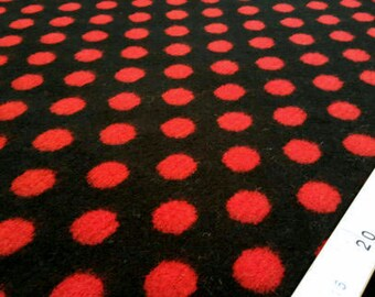 Black and red dots coating fabric #67G
