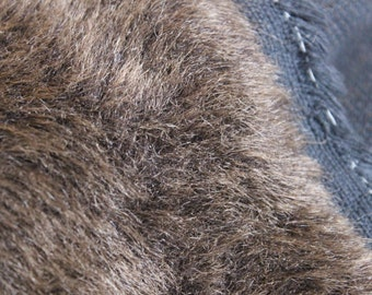 Vintage Plush, Faux Fur, Soft Brown Fabric, For Teddy Bears and Toys, Retro Fabric.
