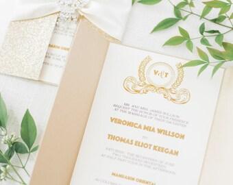 Quinceanera invites etsy gold glitter wedding invitation cardgreat gatsby invitation cardquinceanera invitesweet 16 stopboris Images