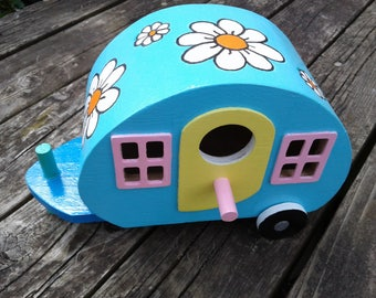 Little Hippie Camper Birdhouse