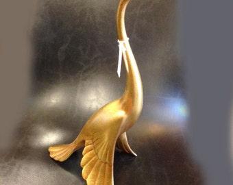 Vintage Mid-Century Gold Leaf Bird by Anthony for Freeman McFarlin