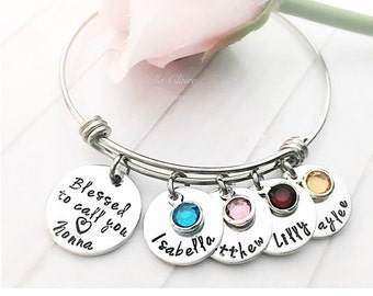 Grammy Bracelet, Personalized nonna Grammy Gift, Mother's Day Gift for Grandma, Grandmother Gifts, Gifts for Grandma, Grandma Bracelet, Nana