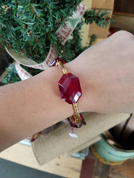 Red crystal bangle, Stone Bangle, crystal jewelry,Red bangle, stack stone bangles, Red crystal bangles, Christmas jewelry