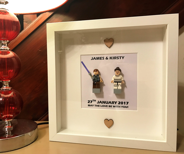 Star Wars Wedding Gifts: Star Wars Wedding Lego Gift Frame By MyLegoBox On Etsy