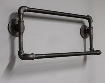 pipe towel bar | etsy
